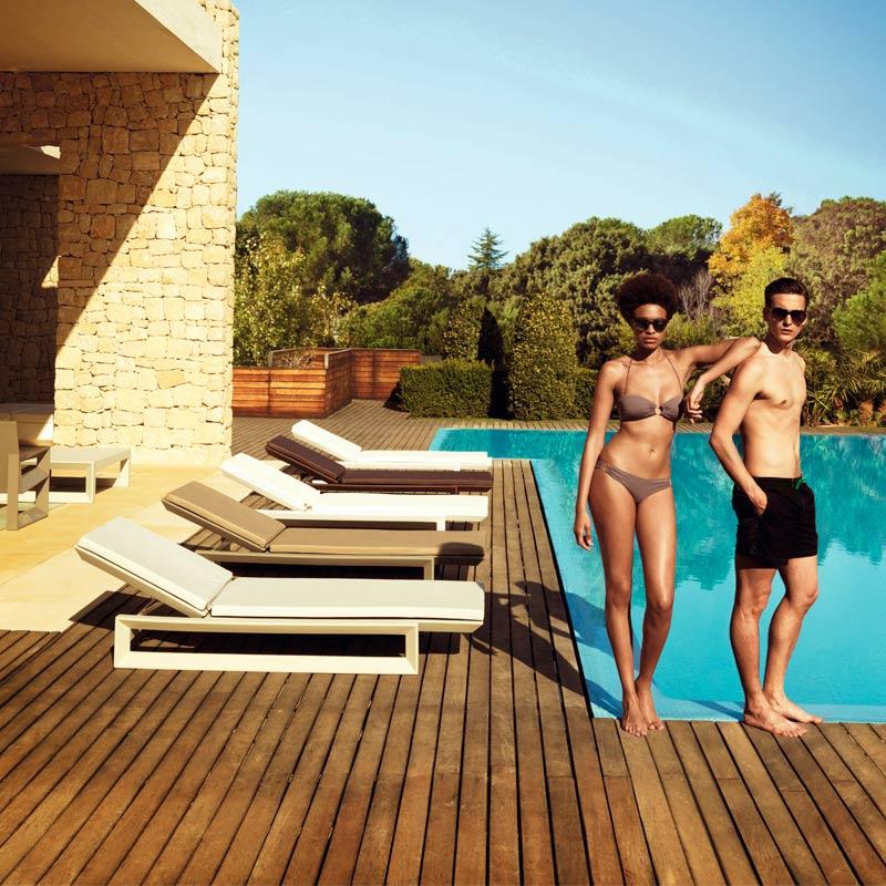 mobili per giardino lettino frame ramonesteve vondom
