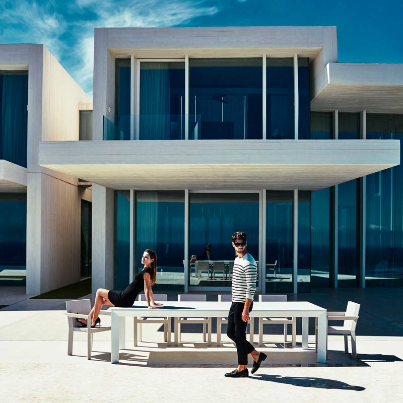 mobili per giardino sedie tabellen sala da pranzo esterno frame ramonesteve vondom