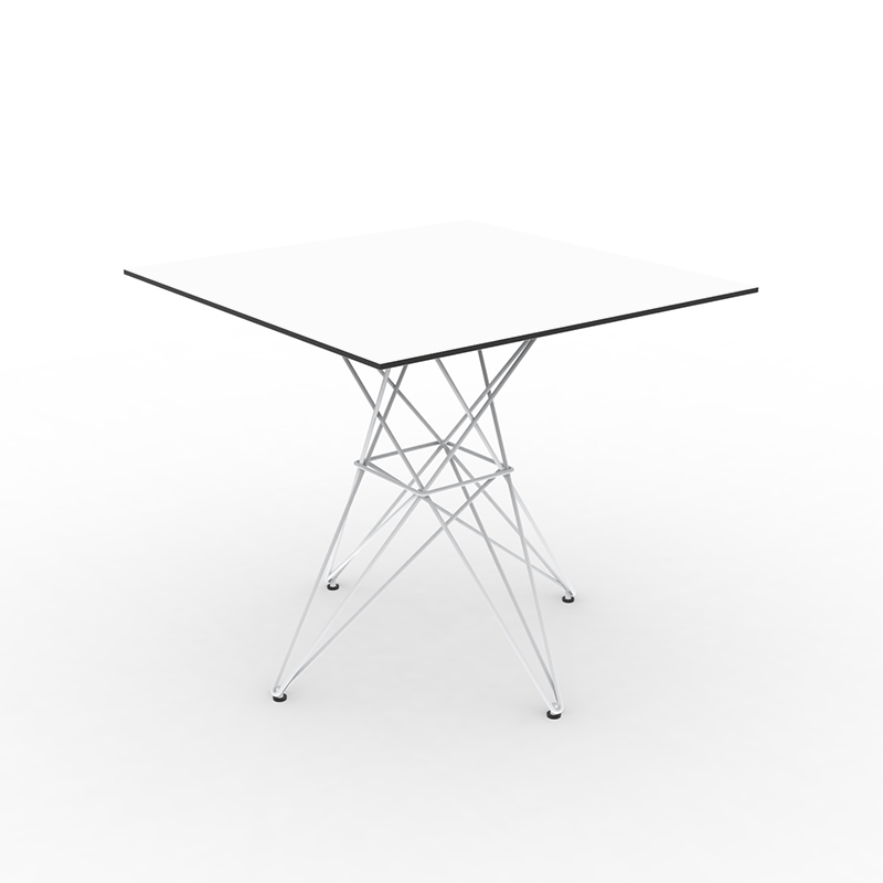 FAZ TABLE STAINLESS BASE 80x80