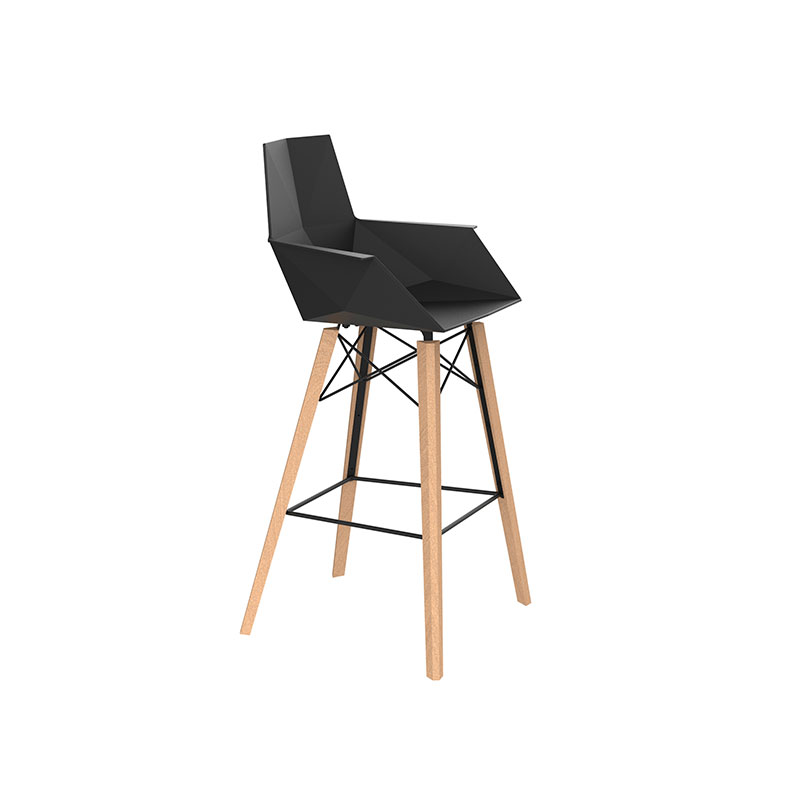 FAZ WOOD BAR STOOL WITH ARMS