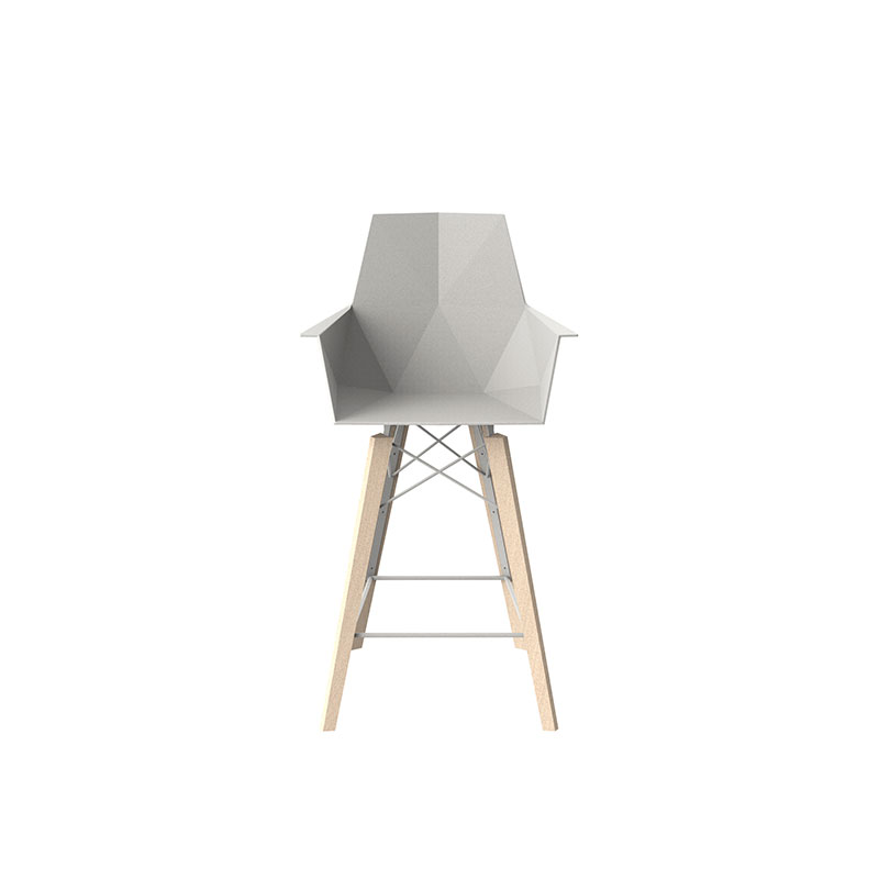 FAZ WOOD COUNTER STOOL WITH ARMS