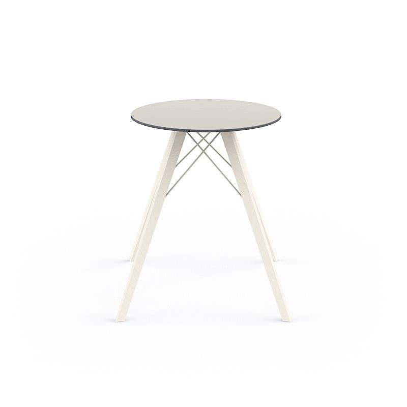 FAZ WOOD DINING TABLE Ø60x74