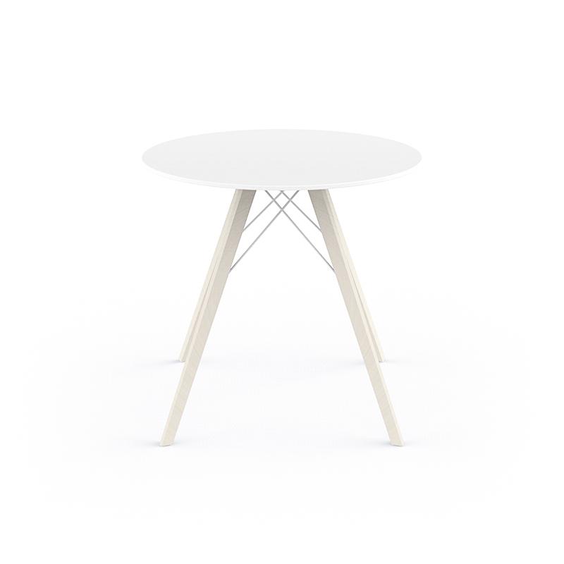 FAZ WOOD DINING TABLE Ø80x74