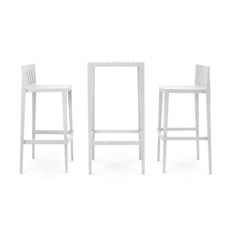 SPRITZ SET OF 1 BAR TABLE+2 BAR STOOL h:97cm